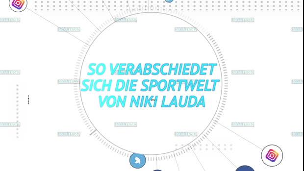 So verabschiedet sich die Sportwelt von Lauda