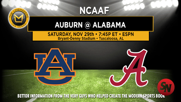Auburn Tigers @ Alabama Crimson Tide