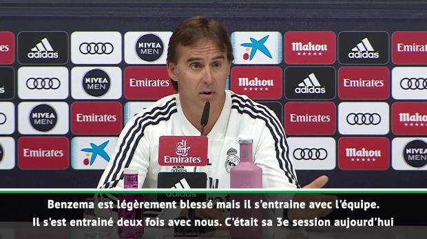 Real Madrid - Lopetegui - 'Benzema va bien'