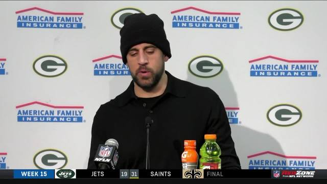 Green Bay Packers QB Aaron Rodgers: 'I was disappointed in my performance today'