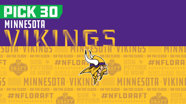 Vikings pick No. 30 | NFL Mock Draft Live