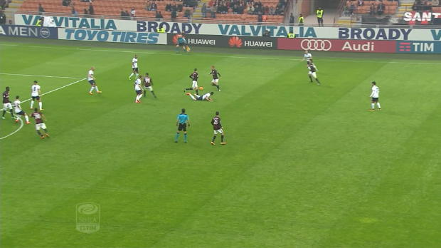 Serie A Round 25 : AC Milan 2-1 Genoa