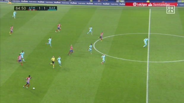 LaLiga: Godin trickst Messi aus