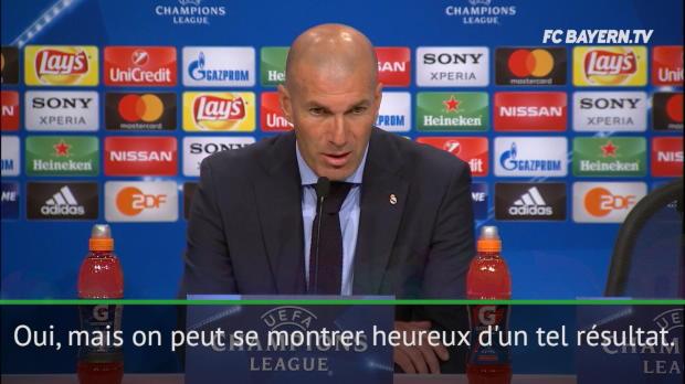 Demies - Zidane - 'Heureux et satisfait d'un tel résultat'