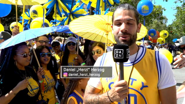Fastbreak rockt die Warriors-Parade