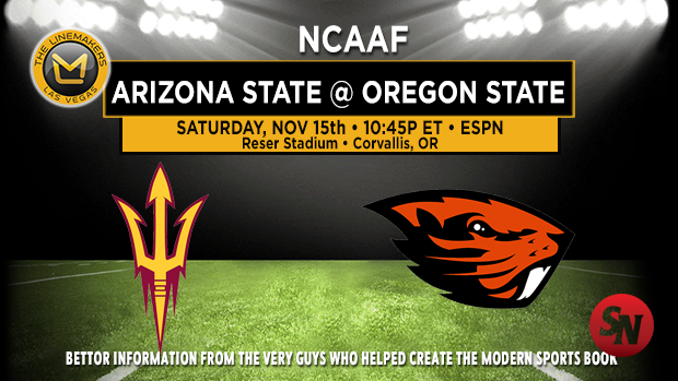 Arizona State Sun Devils @ Oregon State Beavers