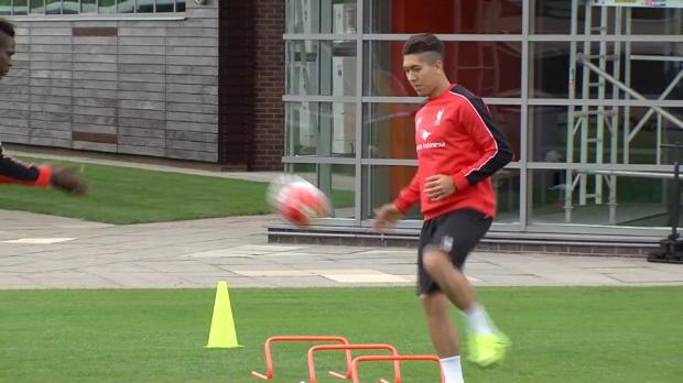 Firminos erstes Training bei Liverpool