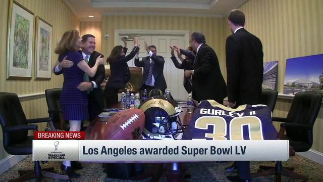 Los Angeles is awarded host of Super Bowl LV