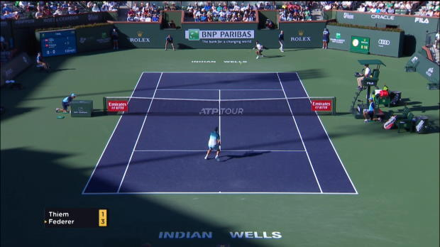 Indian Wells - Thiem bat Federer en finale (3-6 ; 6-3 ; 7-5)