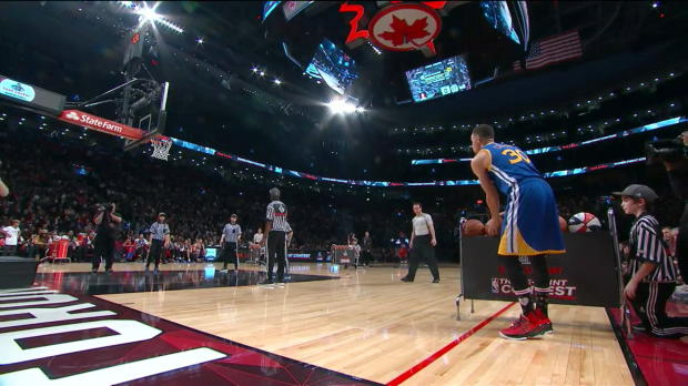WSC: Foot Locker Three-Point Contest: Stephen Curry(Finale)