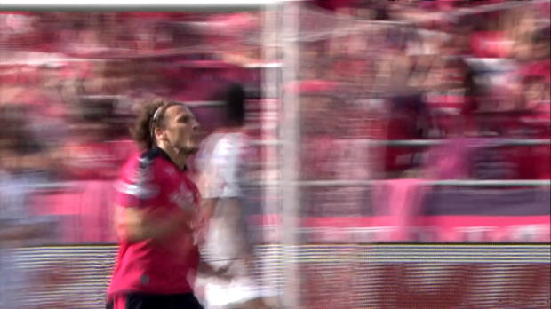 J2-League: Diego Forlan: Freistoß, Bumm, Tor!