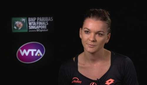 Radwanska Interview: WTA Singapore RR