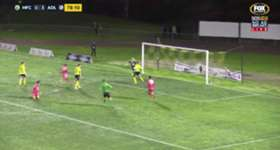 Adelaide United's new recruit Karim Matmour almost pulled off a stunning 'rabona' goal against Heidelberg United.