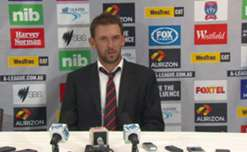 Western Sydney Wanderers coach, Tony Popovic, speaks to the media following his side's 2-2 draw away at Newcastle.