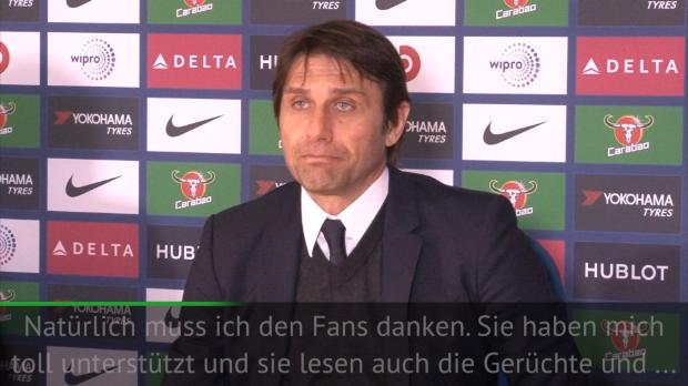 Conte mit Liebesbekenntnis zu Chelsea-Fans