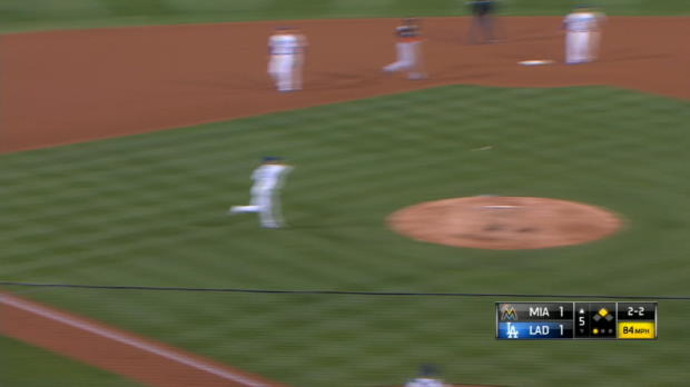 Maeda gets the out after review