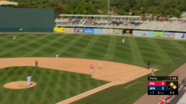 Valentin's three-run home run