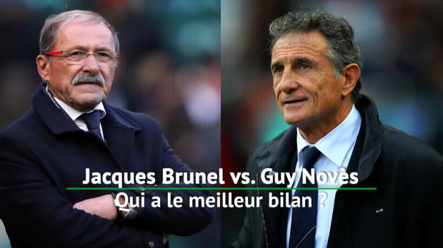 Rugby : VI Nations - Jacques Brunel vs. Guy Novès, qui a le meilleur bilan ?