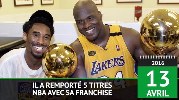 Basket : Il y a 2 ans - Kobe Bryant met un terme à sa carrière