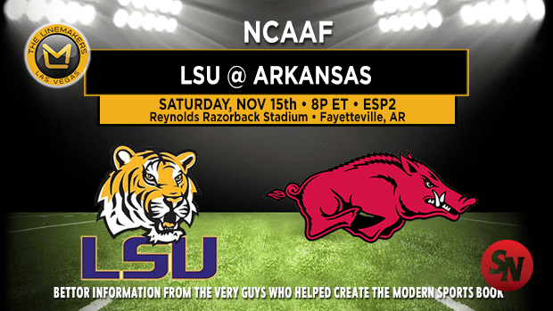 LSU Tigers @ Arkansas Razorbacks