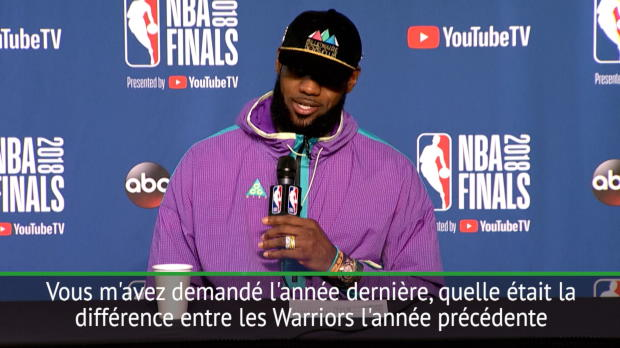 """Basket : Finales - LeBron - """"Durant est l'un des meilleurs joueurs que j'ai dû affronter"""""""