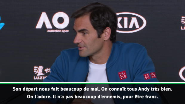 """Tennis : Retraite de Murray - Federer - """"Il peut se retourner et être fier de ce qu'il a fait"""""""