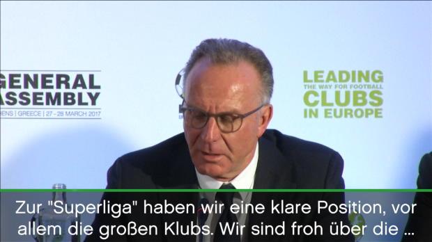 """Rummenigge: """"Keine Diskussion über Superliga"""""""