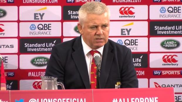 Lions - Gatland - ''Les All Black n?ont pas joué un rugby champagne''