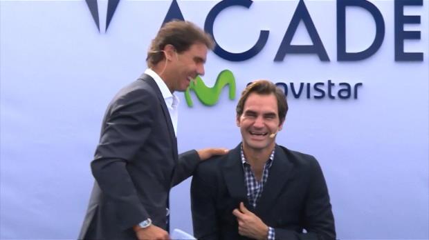Nadal inaugura junto a Federer su academia de tenis en Manacor