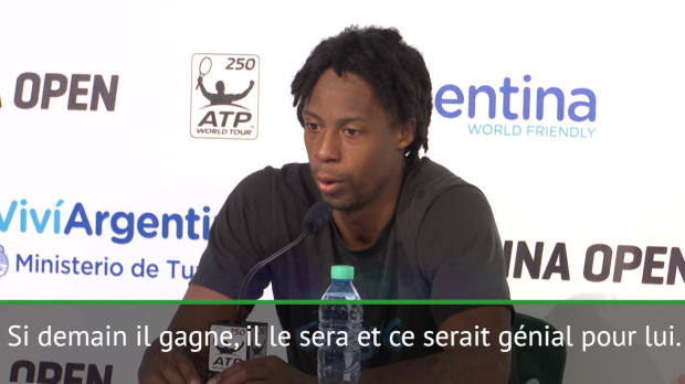 """Tennis : Buenos Aires - Monfils - """"Ce serait génial pour Federer"""""""