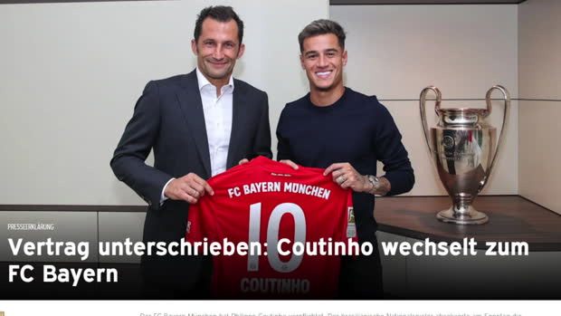Fix! Bayern leiht Philippe Coutinho aus