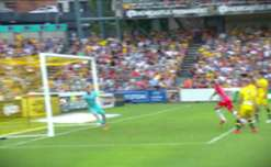 A quick-thinking ballboy in Gosford stopped Melbourne City's Tim Cahill to his trademark goal celebration with the corner flag.