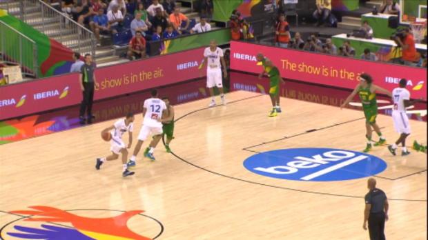 Basket : FIBA - Bleus - Le dunk de Gobert