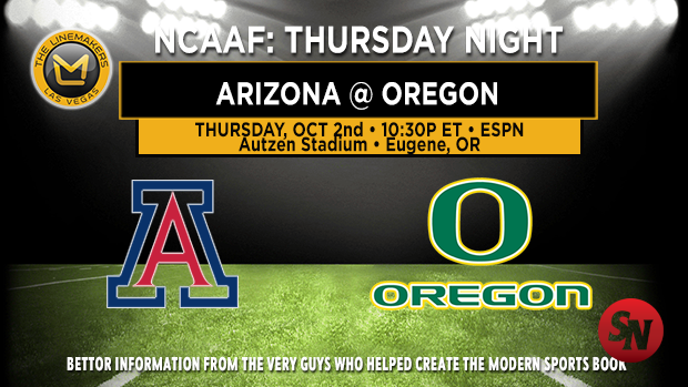 Arizona Wildcats @ Oregon Ducks