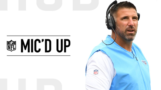 Mic'd Up: Tennessee Titans head coach Mike Vrabel wired for his first NFL win in Week 2