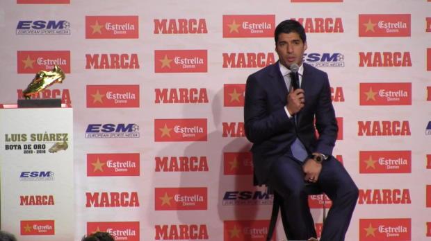 Goldener Schuh: Suarez mit Karriere-Rückblick