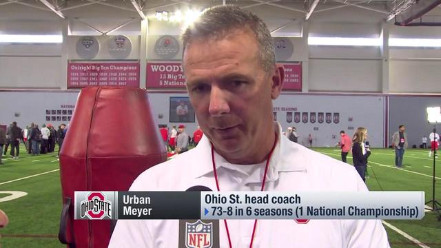 Head coach Urban Meyer highlights what sets cornerback Denzel Ward apart from other Ohio State Defensive Backs over the years