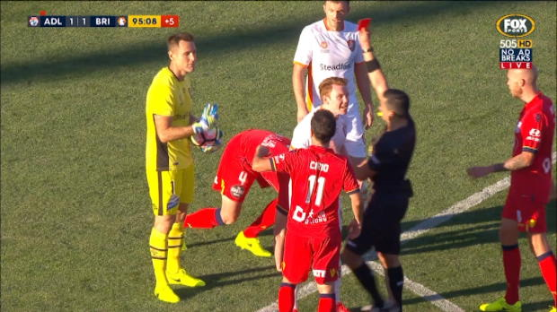 Theo sees red against Adelaide