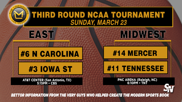 UNC vs Iowa St, Mercer vs Tennessee