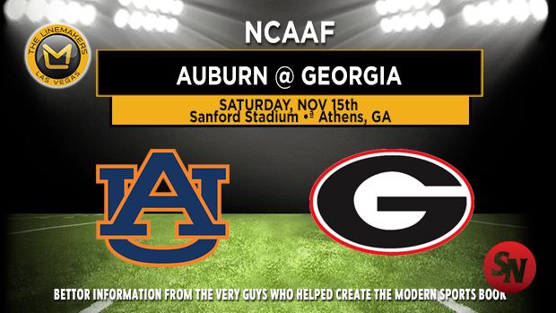 Auburn Tigers @ Georgia Bulldogs