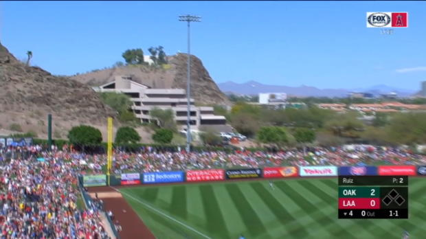 Pujols' first Spring Training HR