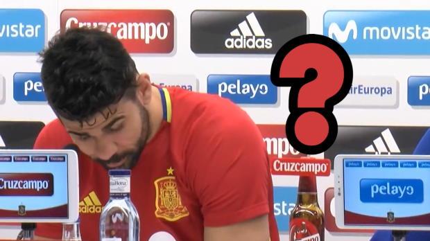 Diego Costa, il microfono come microscopio...