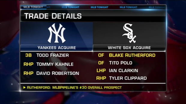 Yankees trade for three White Sox players
