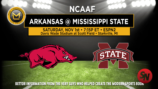 Arkansas Razorbacks @ Mississippi State Bulldogs