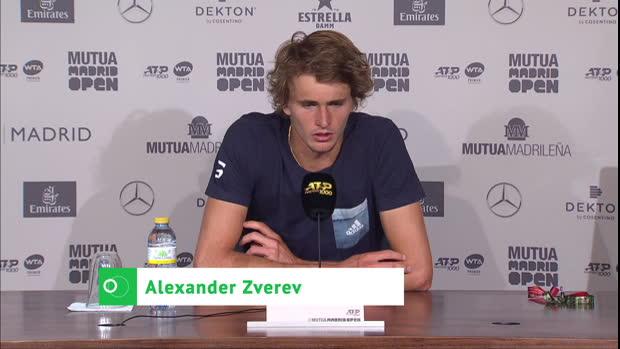 """Madrid: Zverev hadert: """"Alles im Kopf gelaufen"""""""