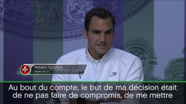 """Basket : Wimbledon - Federer - """"J'ai manqué Roland-Garros pour réussir ici"""""""