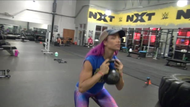 Get an inside look at Sasha Banks' workout at the WWE Performance Center