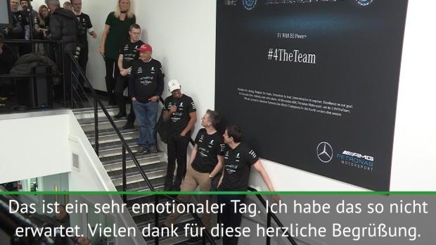 F1: Hamilton mit emotionalem Dank an sein Team