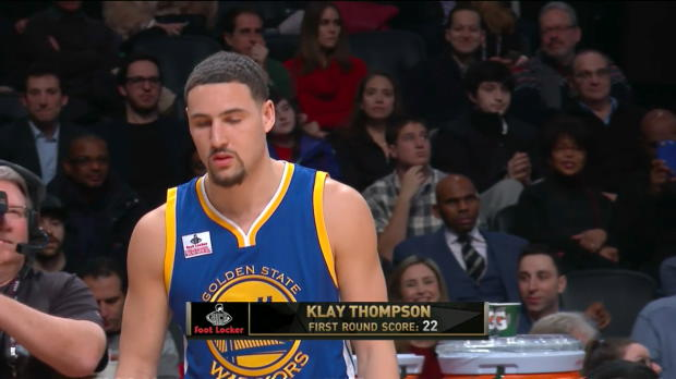 WSC: Foot Locker Three-Point Contest: Klay Thompson (Finale)