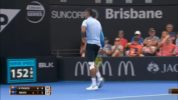 Brisbane: Bad Boy Kyrgios besiegt Landsmann